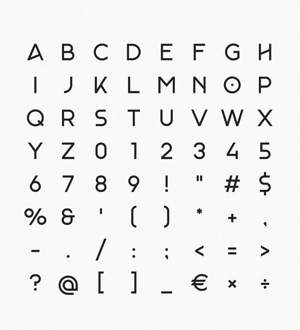Monad Free Font Letters