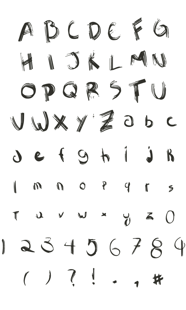 Sawage Free Font Letters