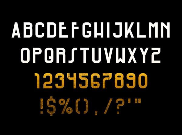 Via Massena Font Letters