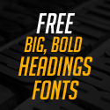 Post Thumbnail of Fresh Free Fonts for Big Bold Headings