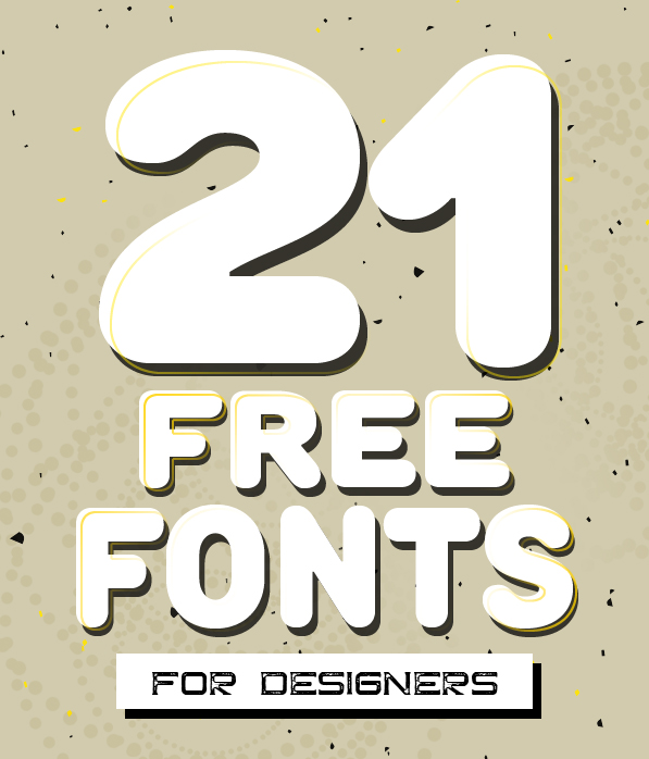 Fresh Free Fonts for Designers (21 fonts)
