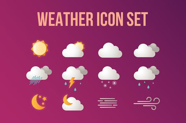 Free Weather Icon set (12 Icons)