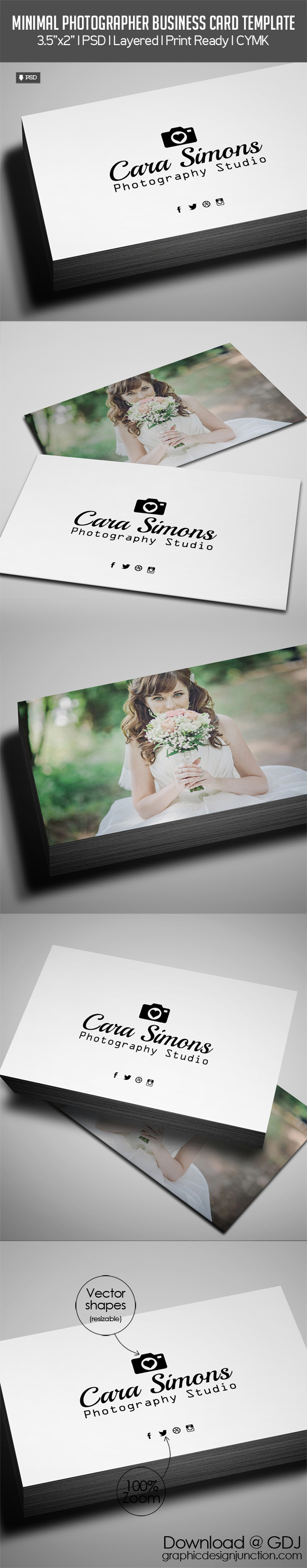 Freebie – Photographer Business Card PSD Template