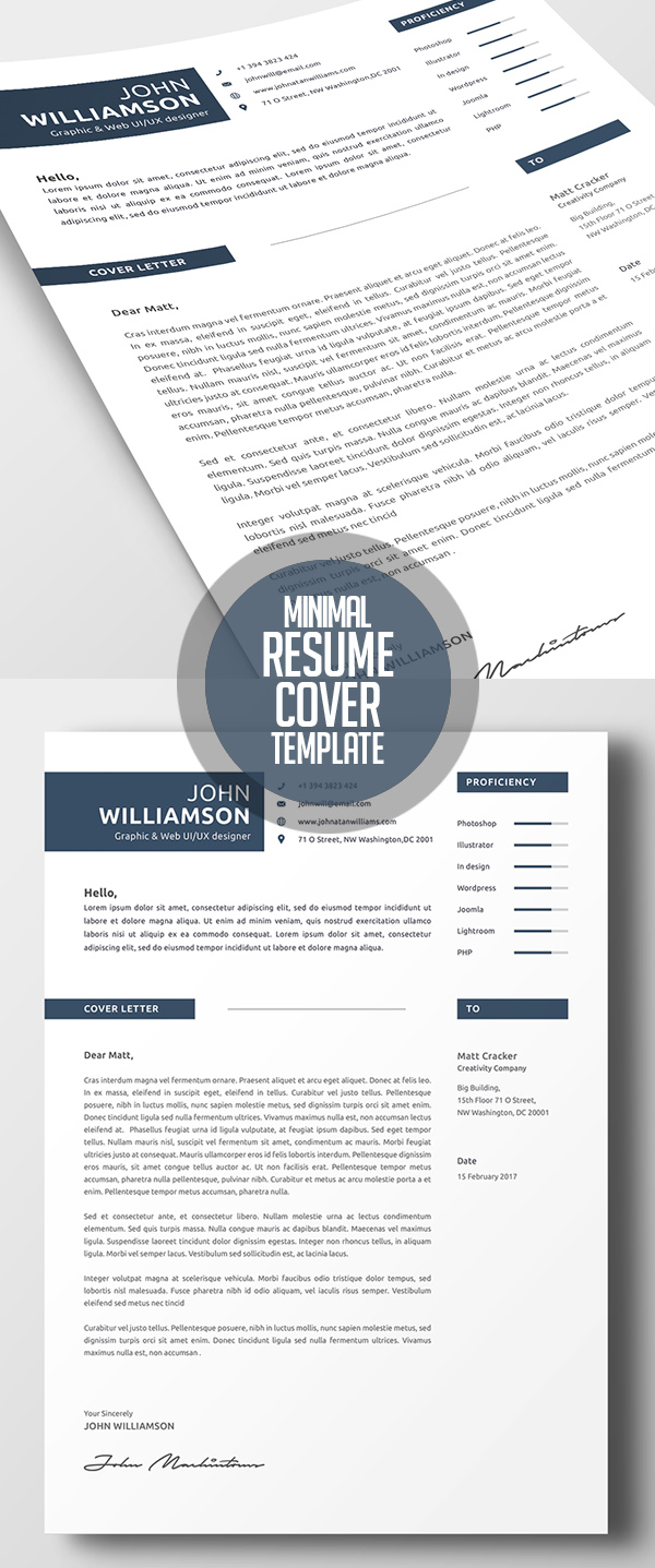 Minimal Resume Template and Cover Letter