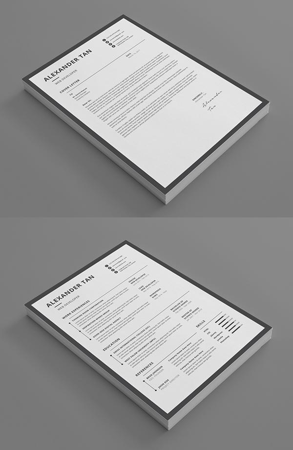 Minimal Resume / CV & Cover Letter Template