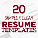 Post thumbnail of 20 New Simple, Clean CV / Resume Templates with Cover Letter