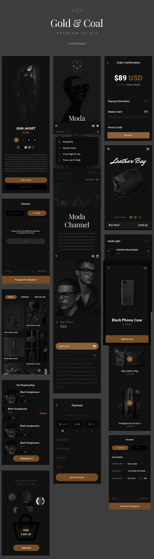 Free E-Commerce Apps UI Kit