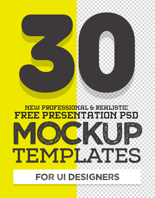 Free PSD Mockup Templates (30 Fresh Mock-ups)