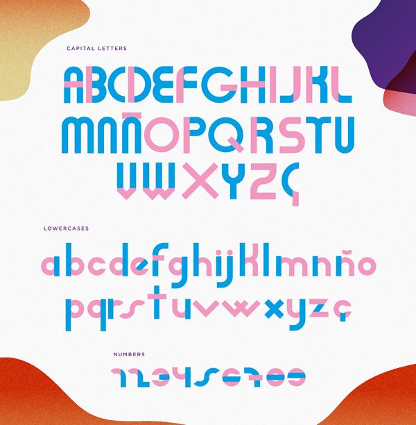 Adan free font letters