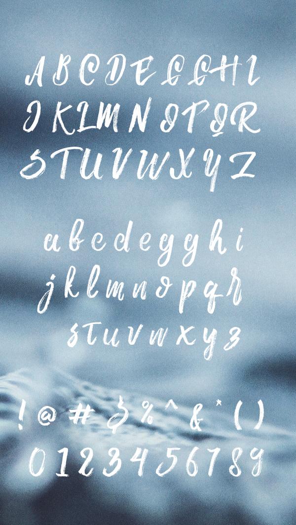 Aline free font letters