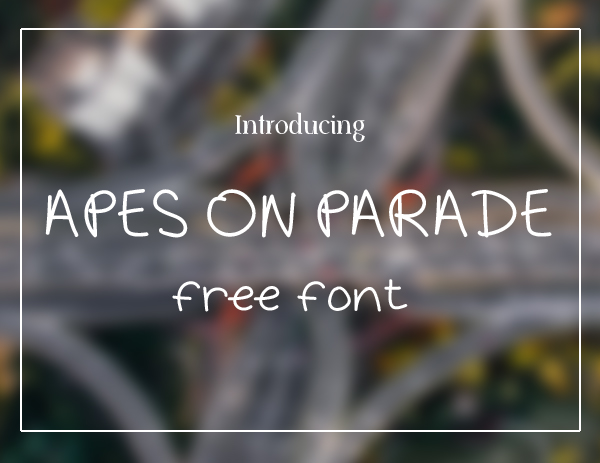 Apes On Parade Free Font