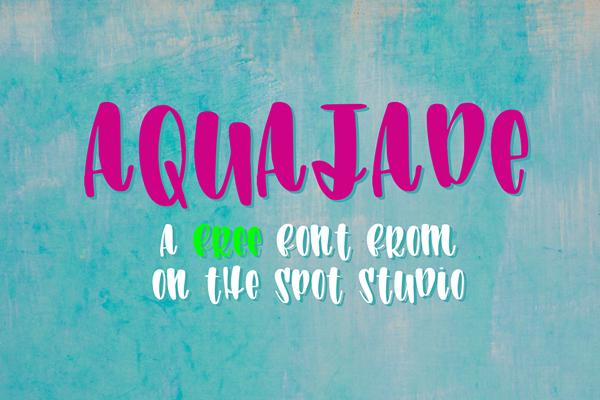 Aquajade free font