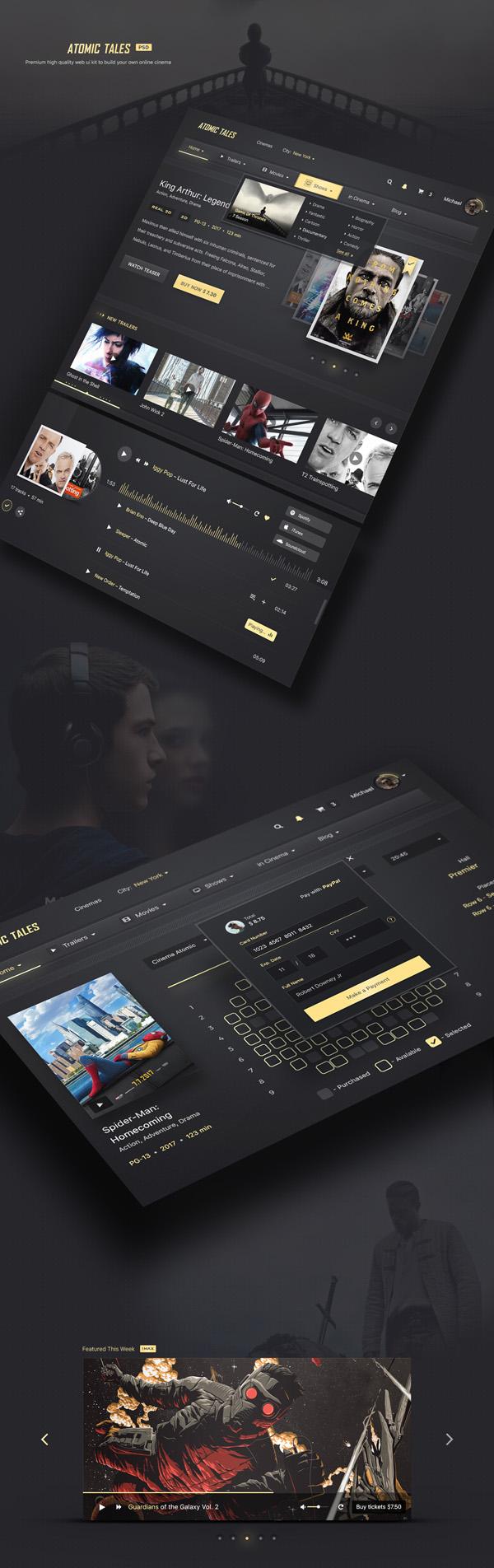 Atomic Tales Web PSD UI Kit