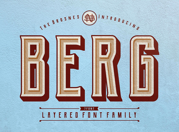Berg free font
