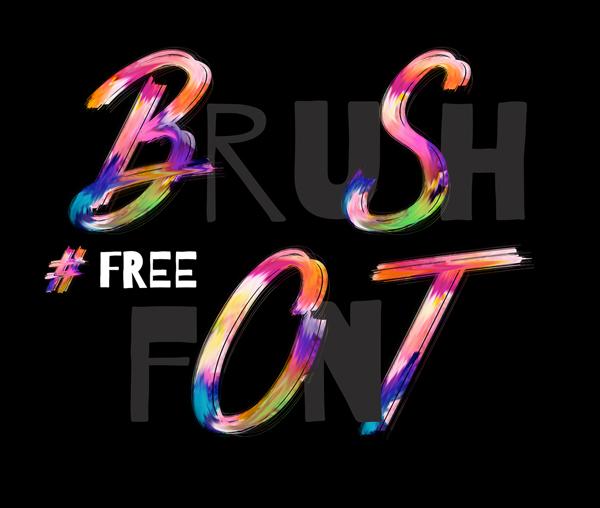Brush free font