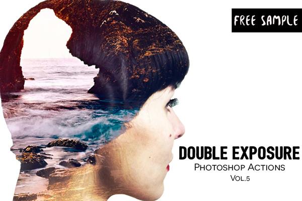 Free Double Exposure Photoshop Actions Vol.5