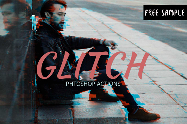Download Free Glitch Effect Photoshop Action