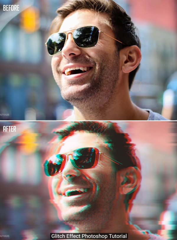 How to Create Glitch Effect in Photoshop Tutorial