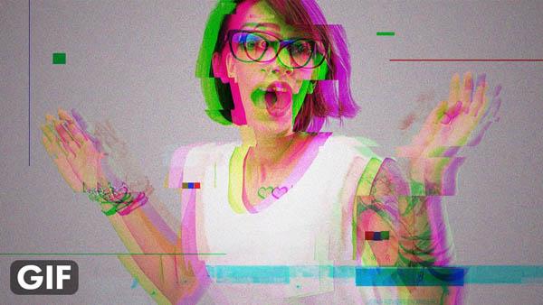 How to Create GIF Animated Glitch - Photoshop Tutorial