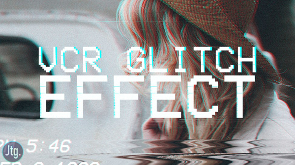 Create Instagram Style VHS VCR Tape Camcorder Glitch Art Effect in Photoshop Tutorial