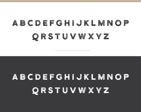 Henrik free font letters