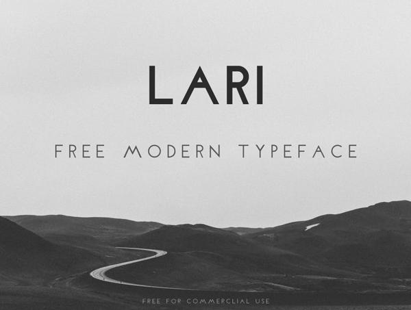 Lari free font