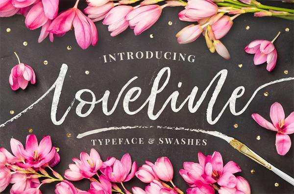Loveline Brush Script + Swashes free font