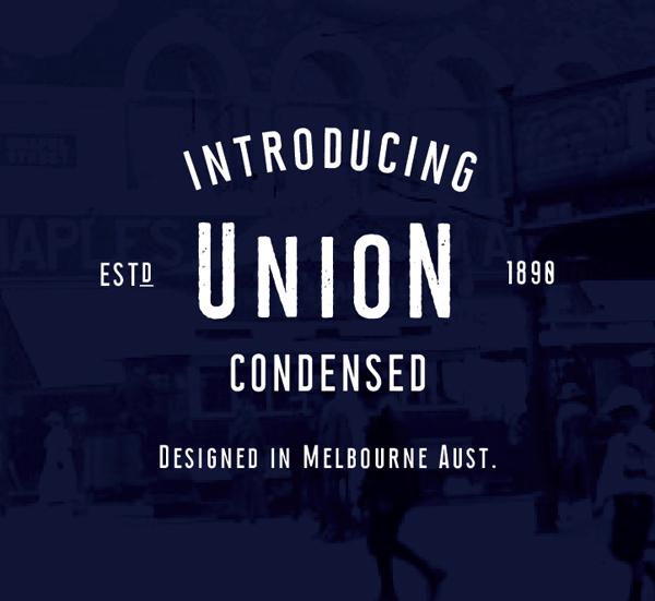 Union Condensed free font