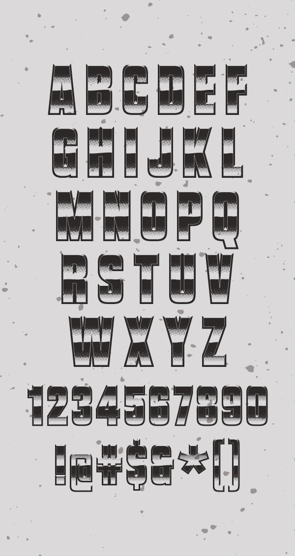Vanchrome Free Font Letters