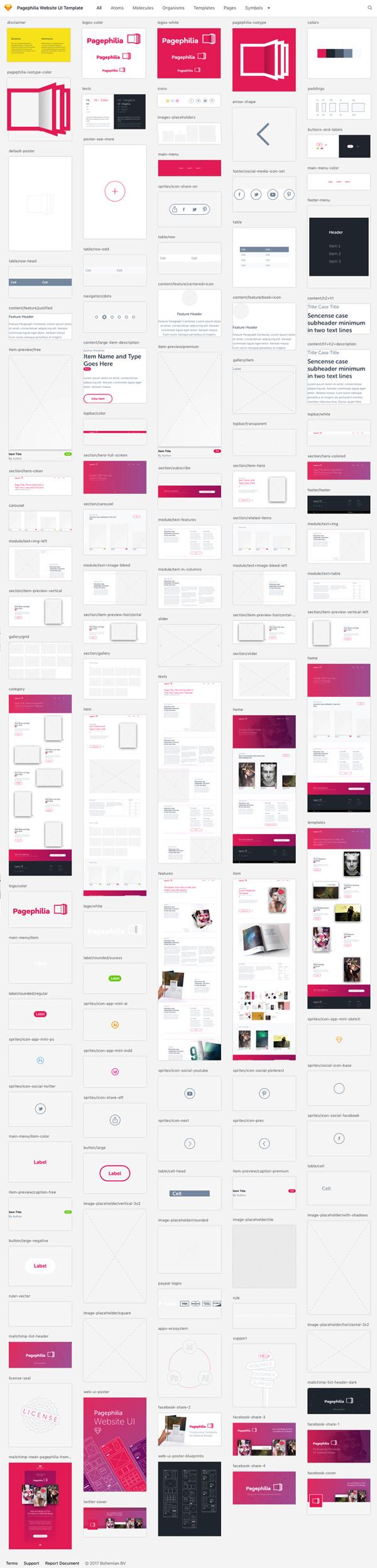 Pagephilia Website UI Kit Template