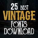 Post thumbnail of 25 Best Vintage Fonts