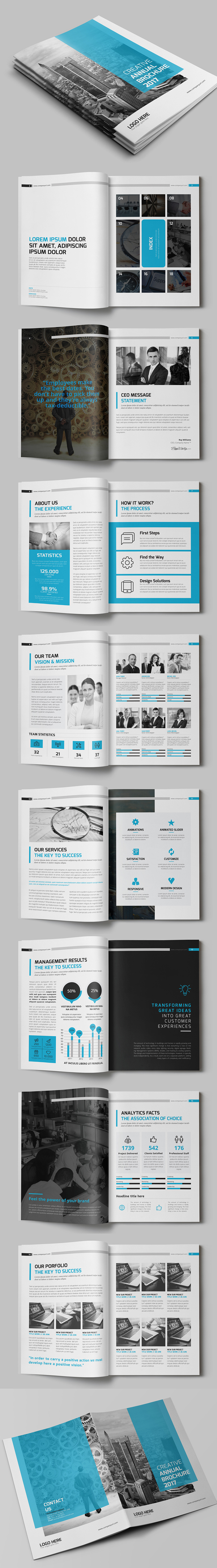 A4 Creative Annual Brochure