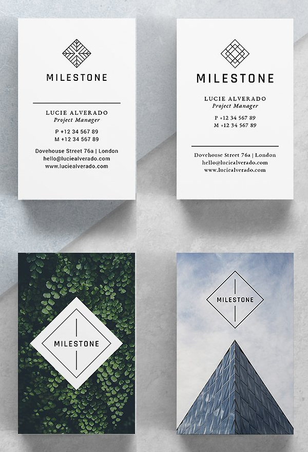 Milestone Business Cards