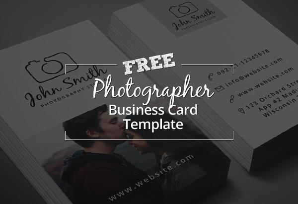 Freebie - Minimal Photographer Business Card PSD Template ...