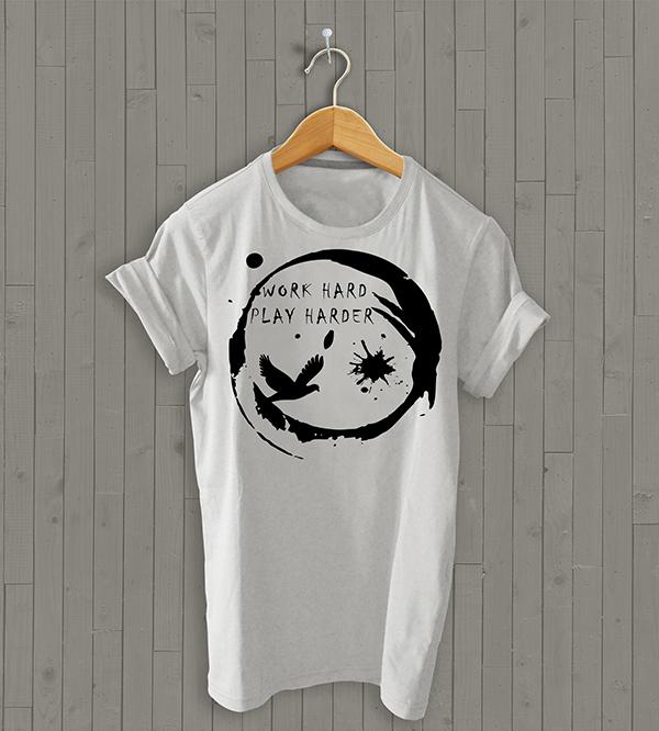 Free Tshirt With Hanger Mockup