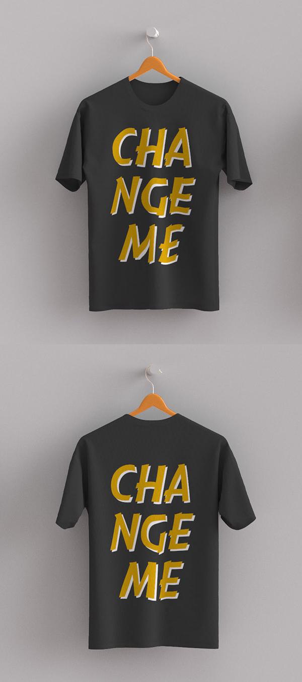 Free T-shirt Front / Back Mockup PSD
