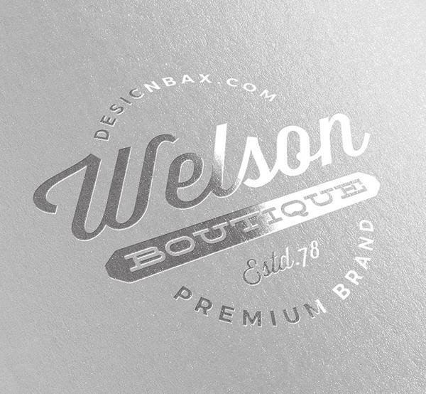 Free Metallic Silver Logo Mockup