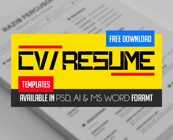 21 Fresh Free Professional CV / Resume Templates