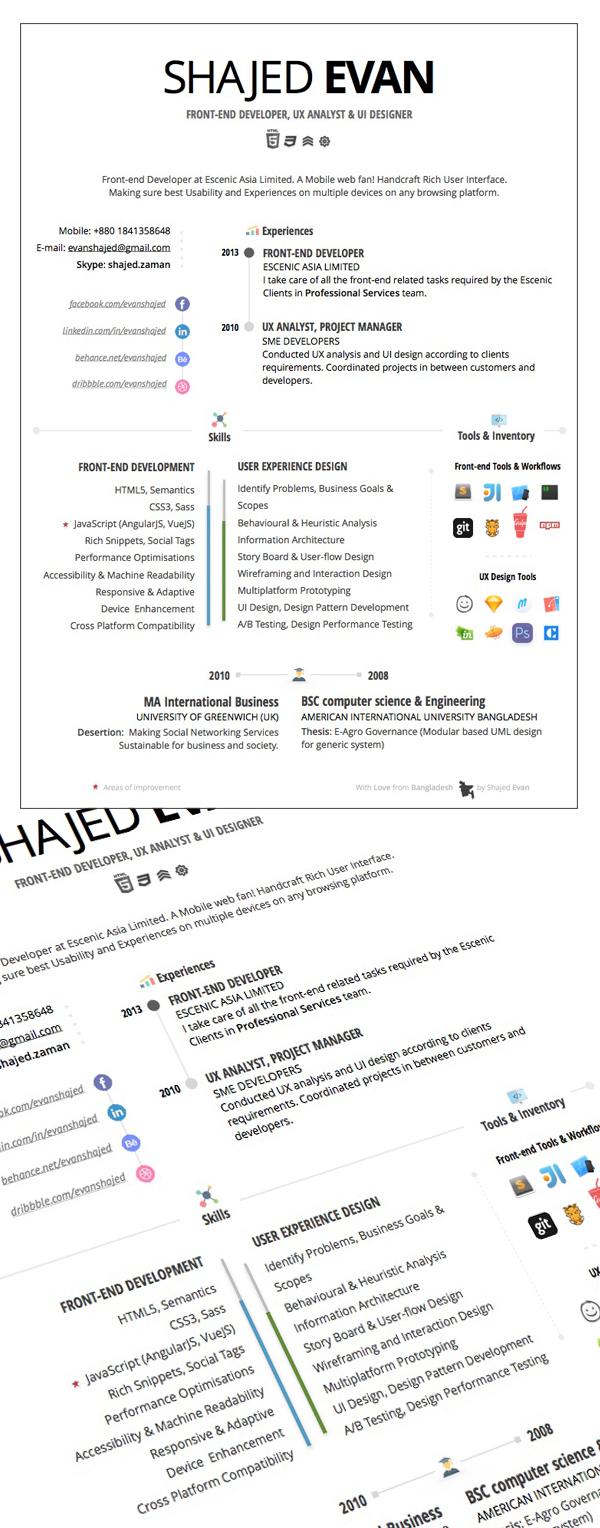 Free Creative Resume Design
