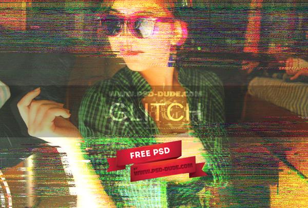 Free Glitch VHS Tape Photoshop Generator