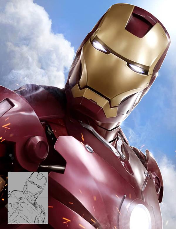 Create Stunning 'Iron Man' Fan Art From Scratch in Photoshop