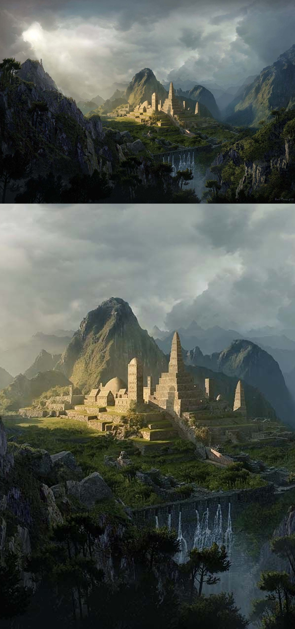 How to Create an Epic Digital Matte Painting in Photoshop Tutorial