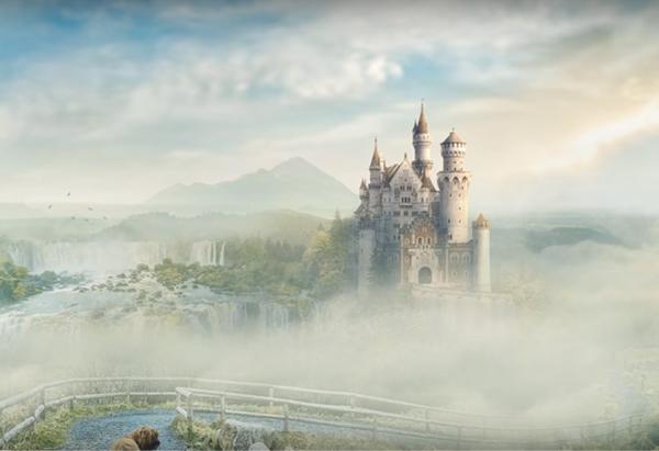 Amazing Photoshop Manipulation Tutorial Mountain Castle