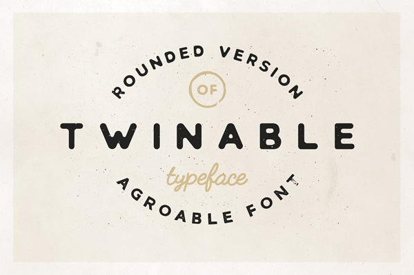 Twinable - Rounded Retro Font