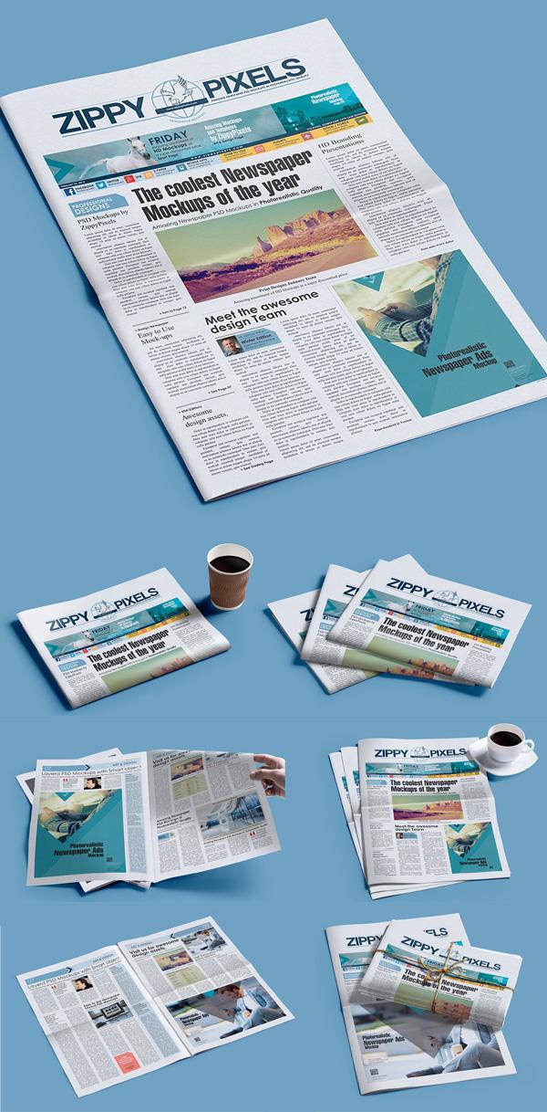 Newspaper Mockup PSD Mockup