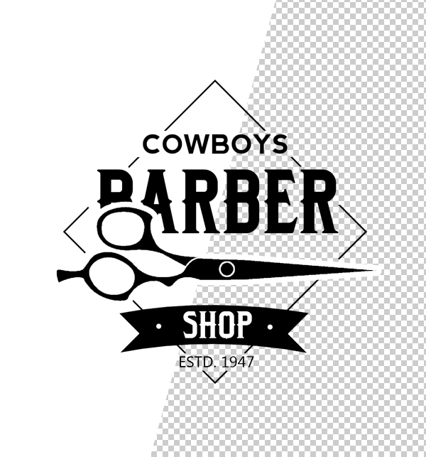 Barber Shop Logo Template - 6