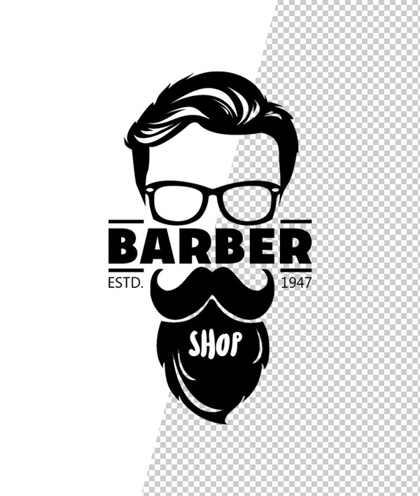 Barber Shop Logo Template - 7