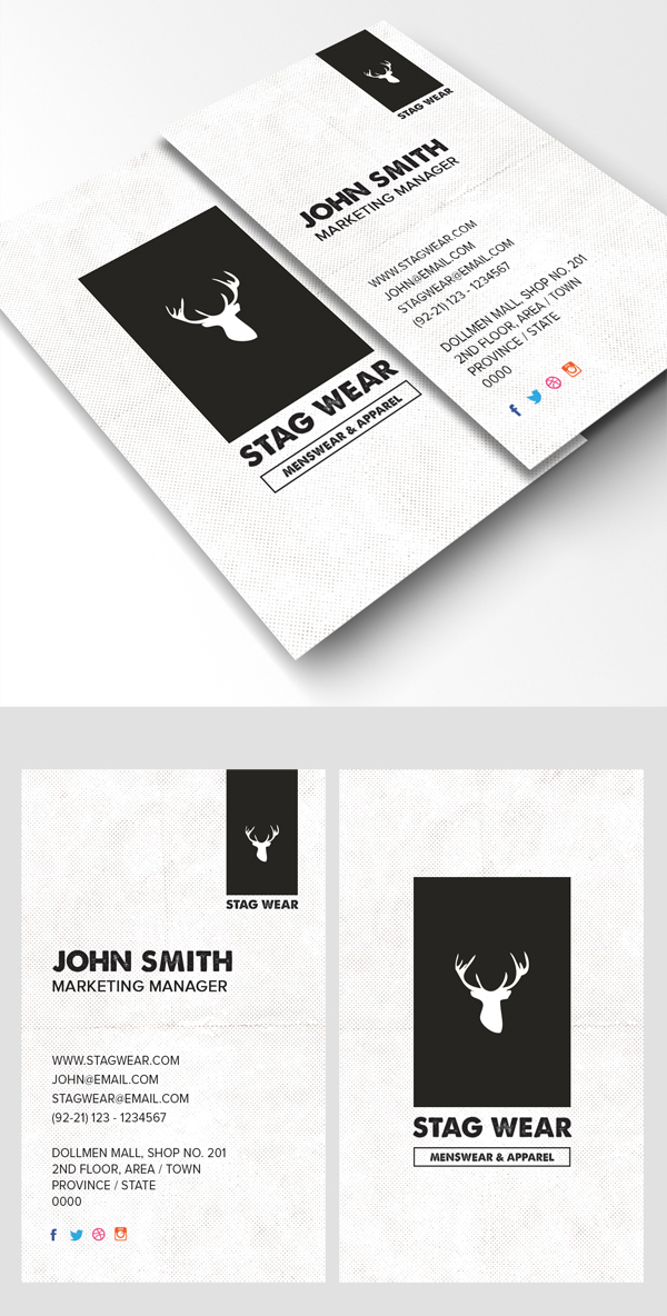 26 Modern Free Business Cards PSD Templates - 13