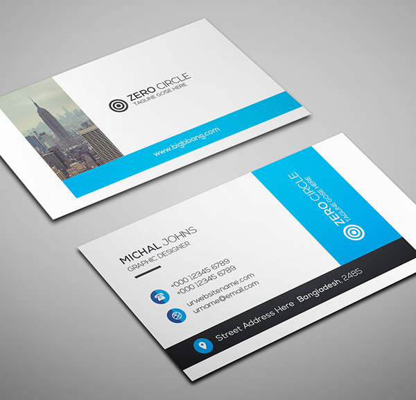 26 Modern Free Business Cards PSD Templates - 16