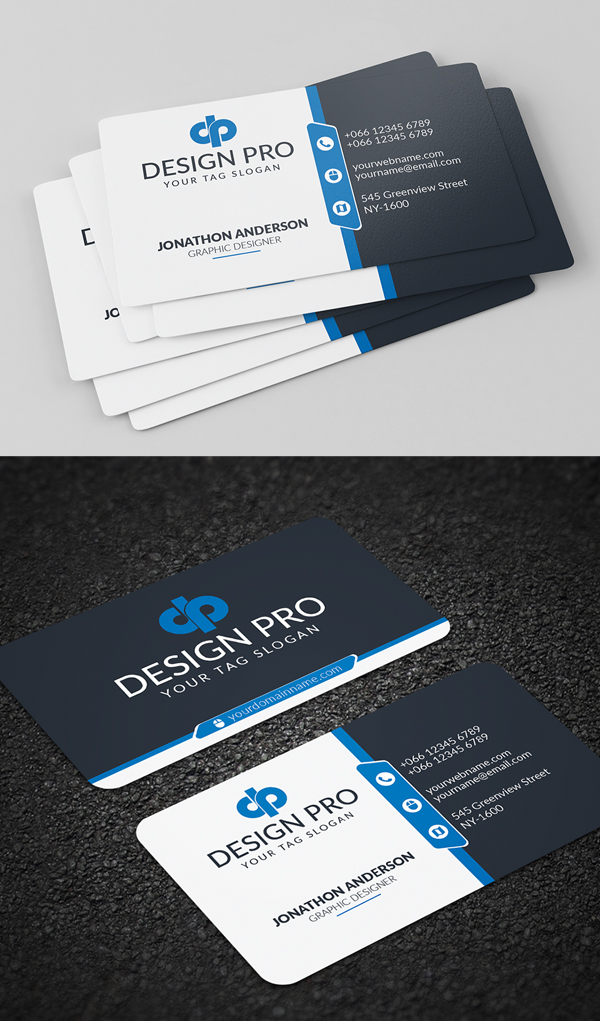 26 Modern Free Business Cards PSD Templates - 17